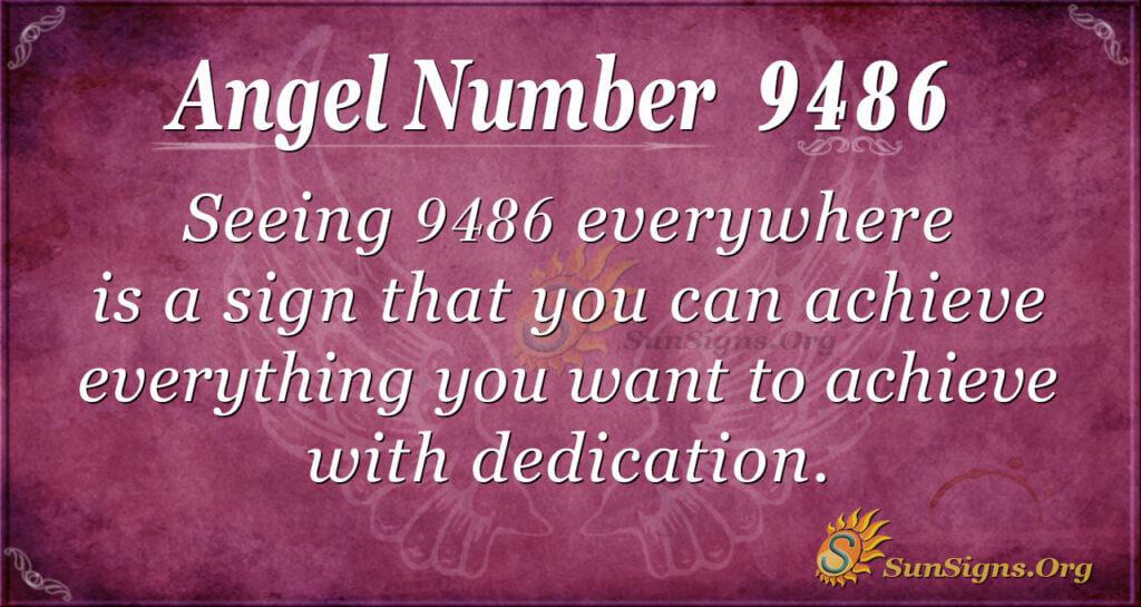Angel Number 9486