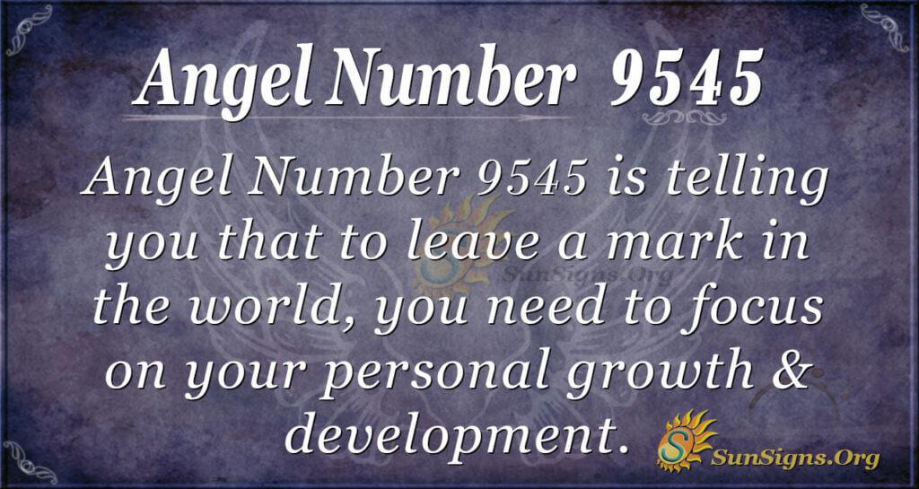 Angel Number 9545