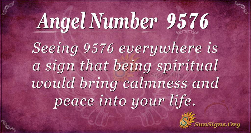 Angel Number 9576
