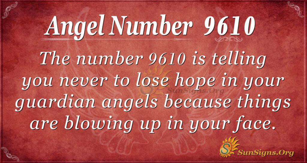 9610 angel number