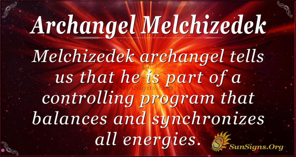 archangel melchizedek