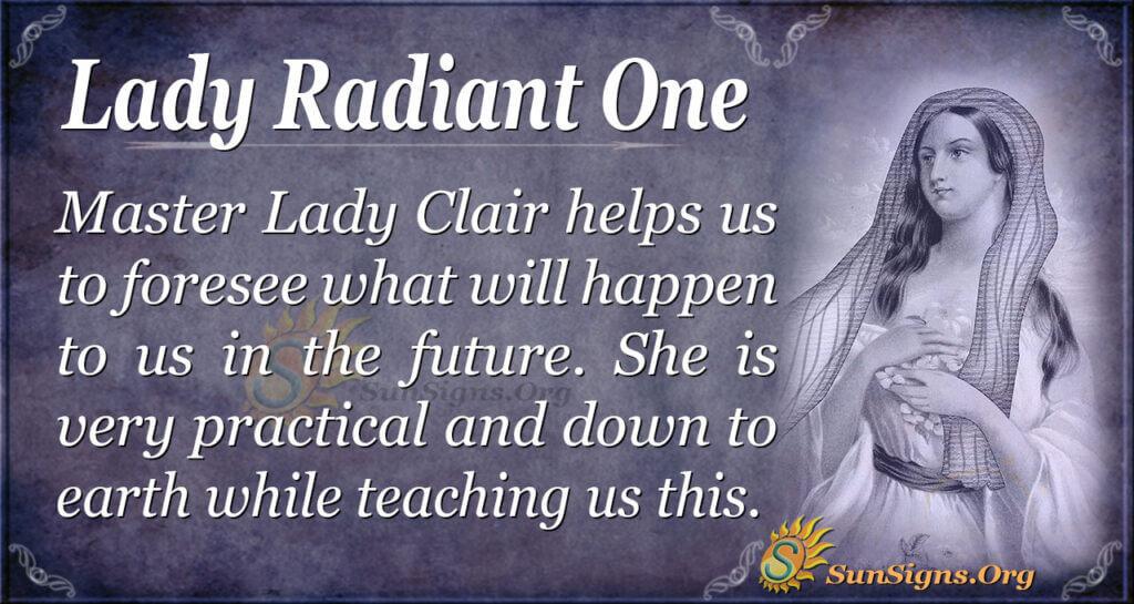 lady radiant one