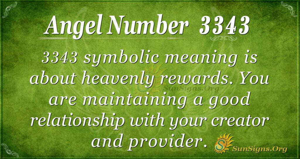 Angel Number 3343
