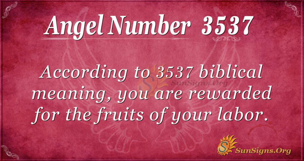 3537 angel number