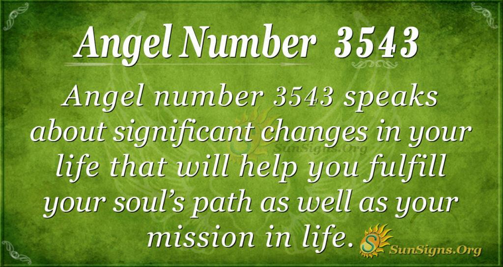 3543 angel number