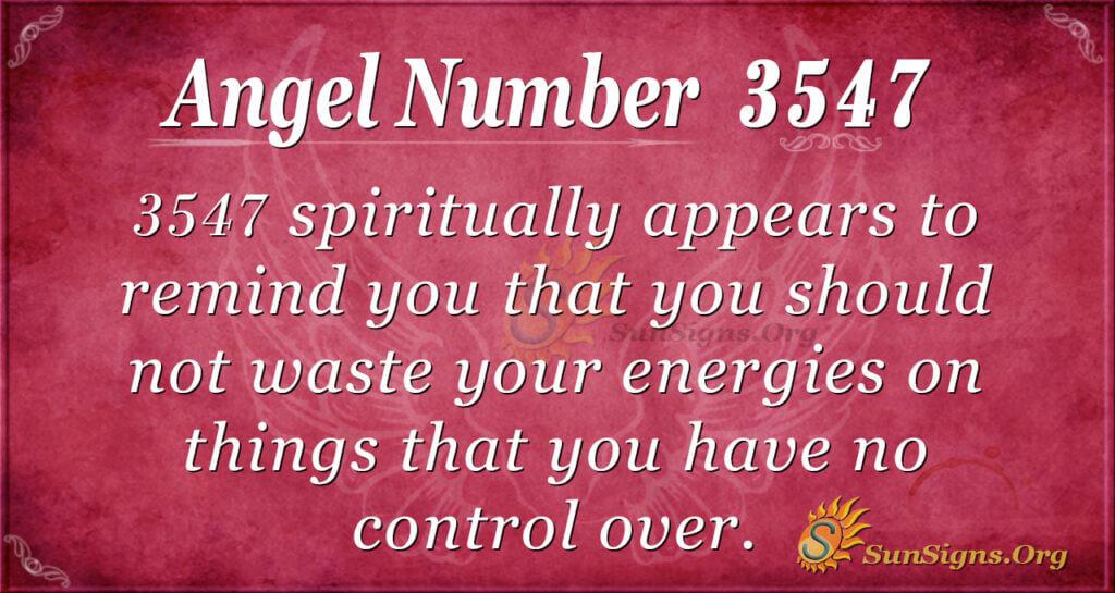 3547 angel number