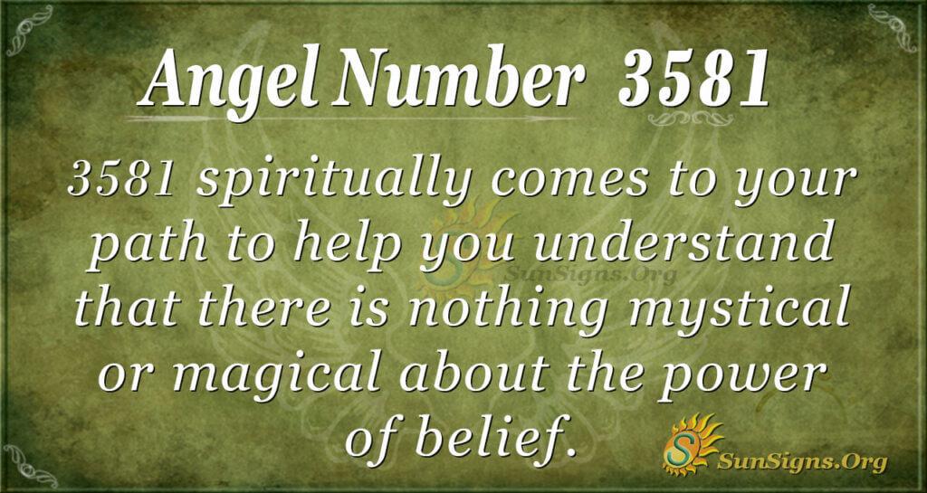 3581 angel number