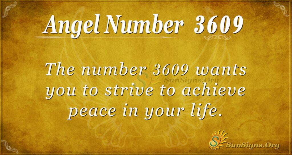 3609 angel number