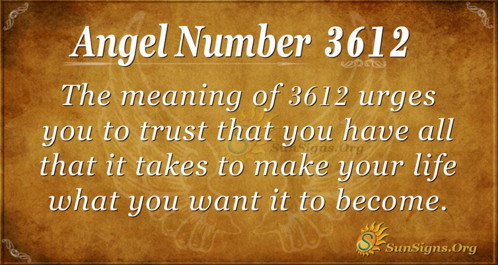 3612 angel number