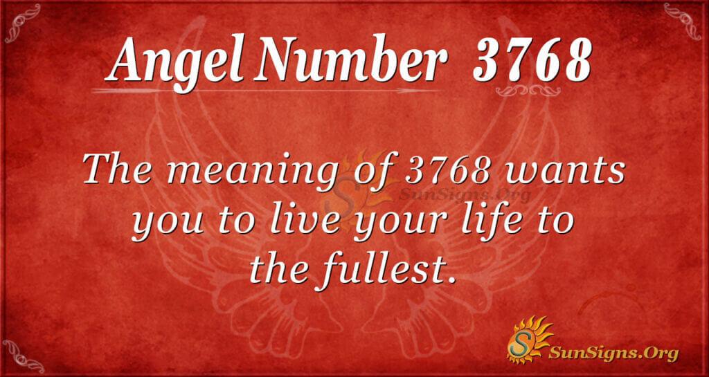 3768 angel number