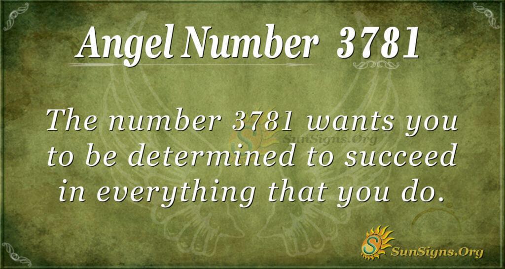 3781 angel number