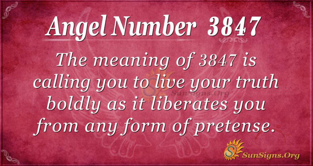 3847 angel number