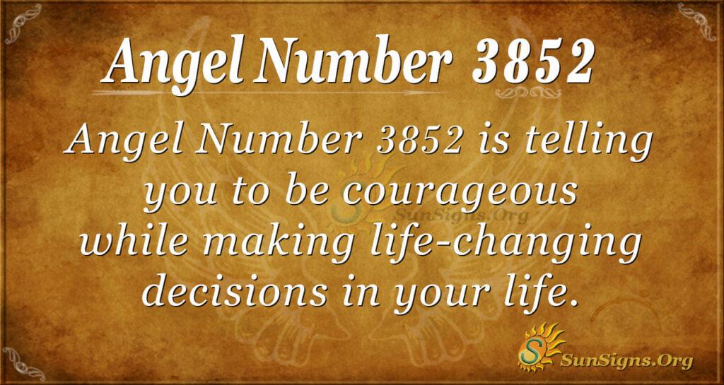 3852 angel number