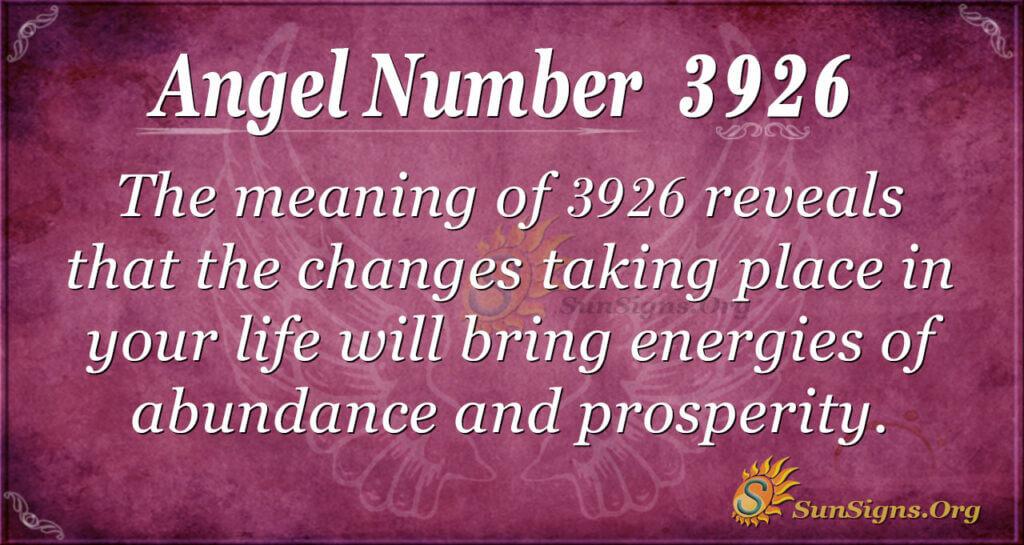 3926 angel number