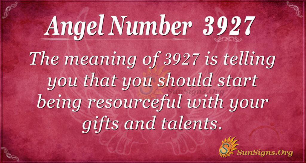 3927 angel number