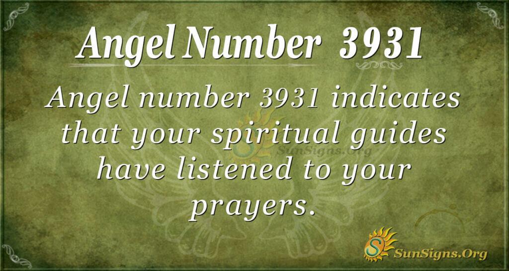 3931 angel number
