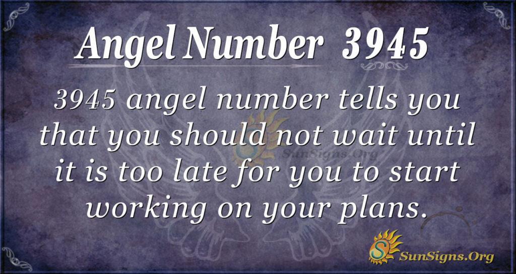 3945 angel number