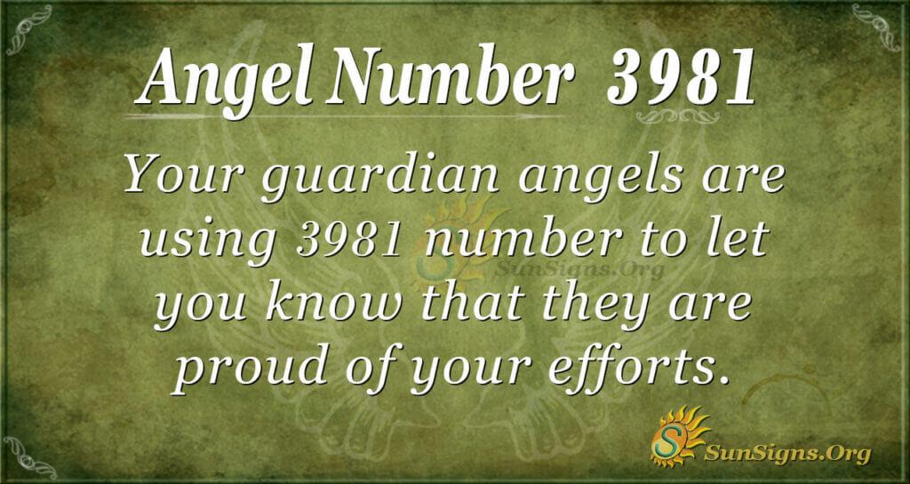 3981 angel number