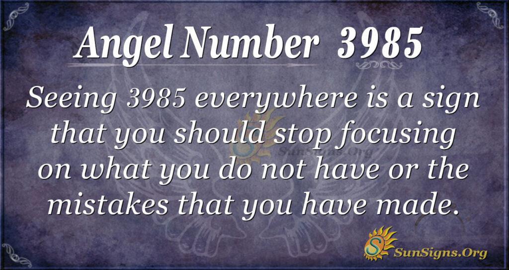 3985 angel number