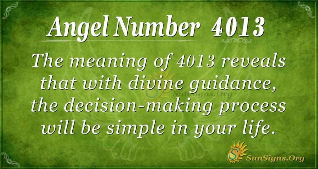 4013 angel number