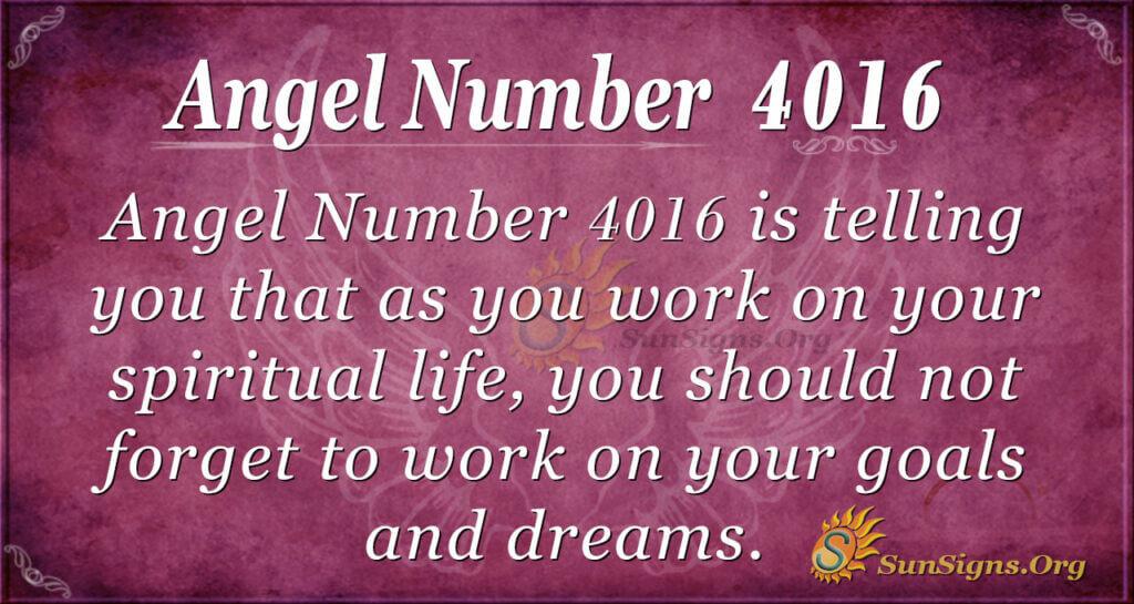 4016 angel number