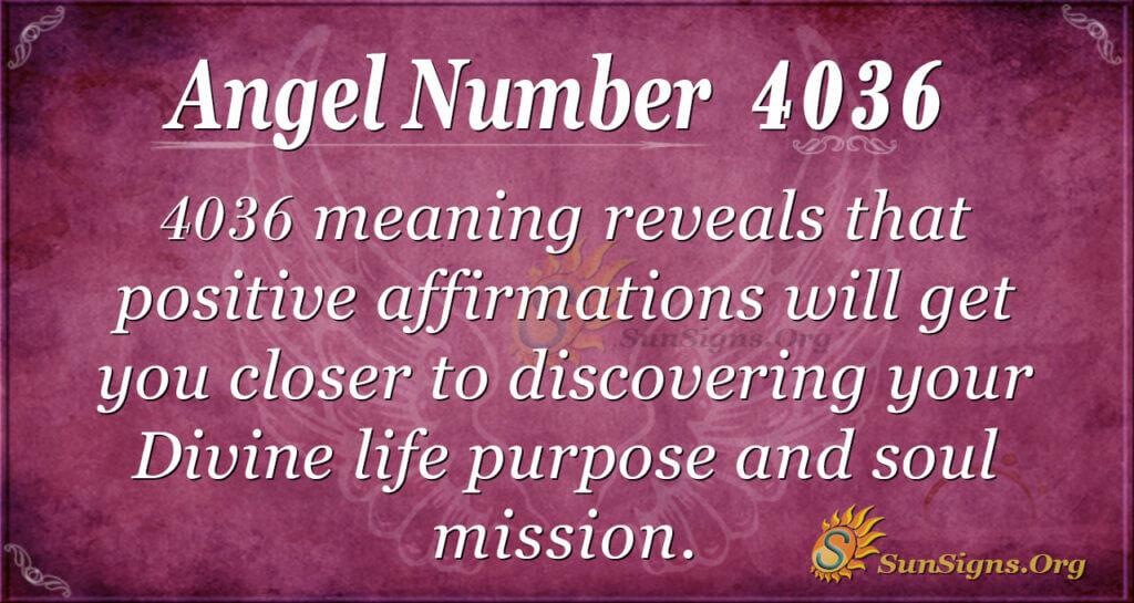 4036 angel number