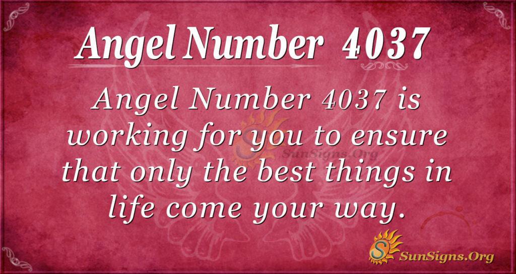 4037 angel number