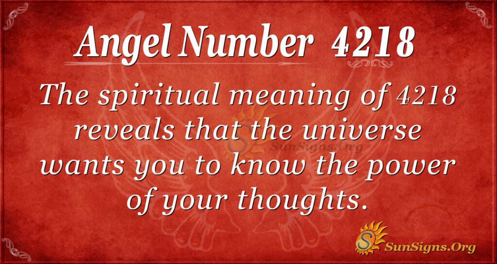 4218 angel number