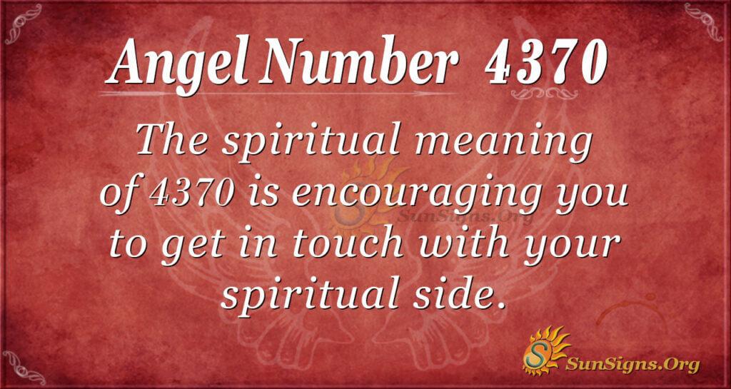 4370 angel number