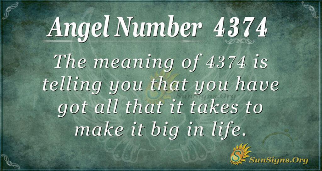 4374 angel number