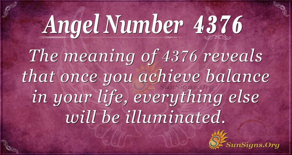 4376 angel number