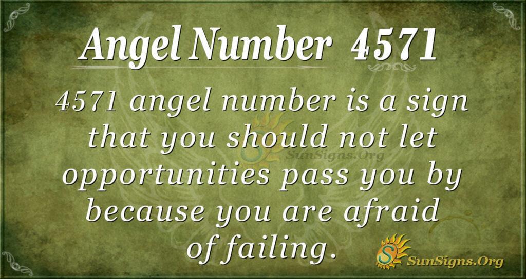 4571 angel number