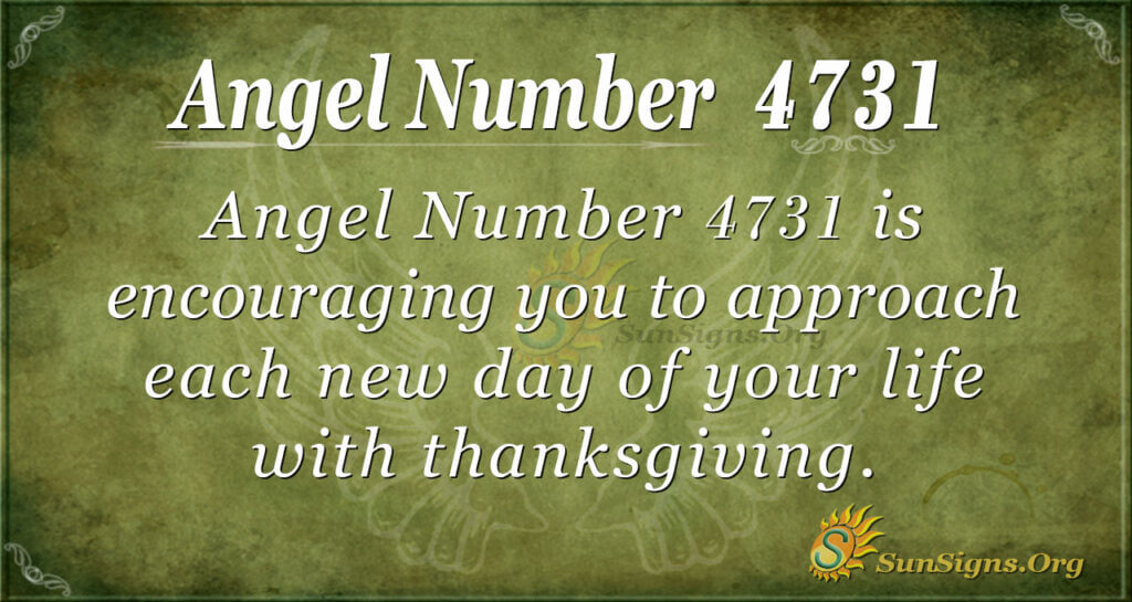 4731 angel number