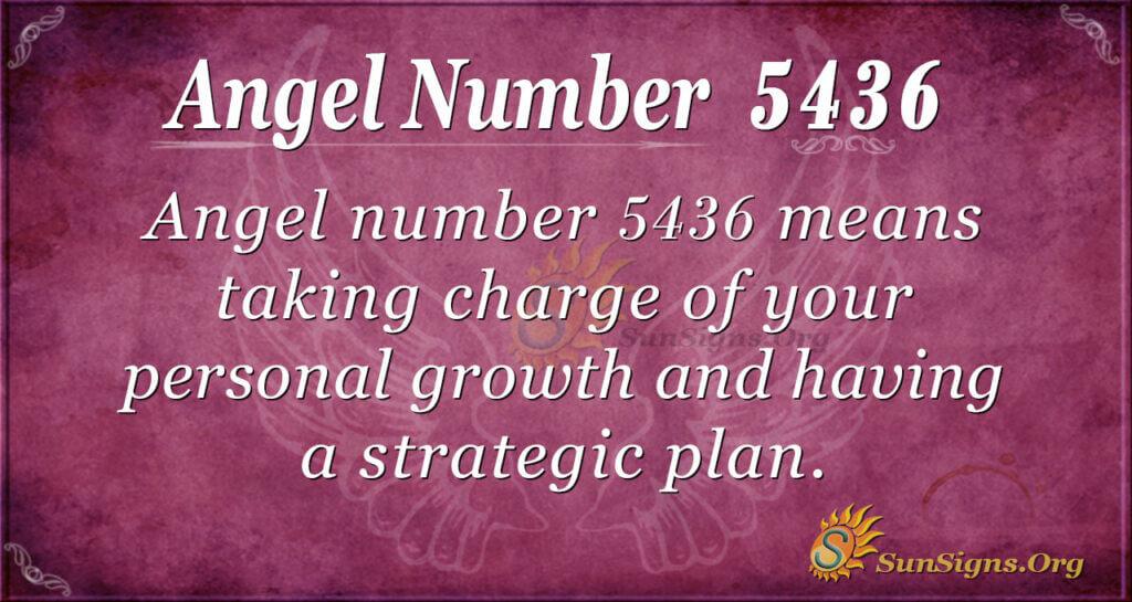 Angel Number 5436