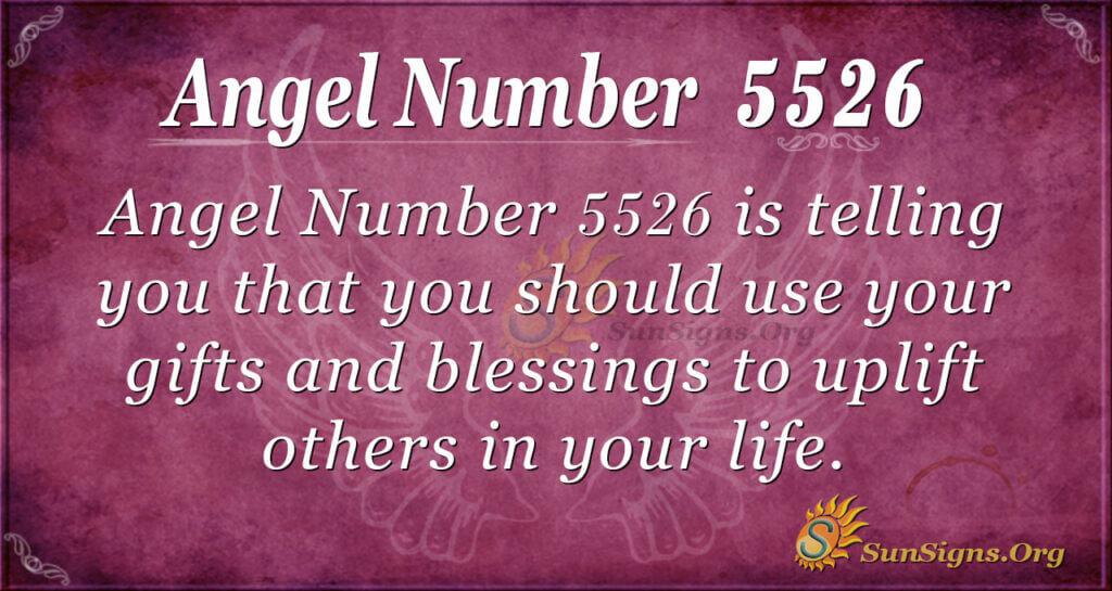 angel number 5526
