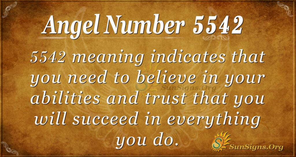 5542 angel number