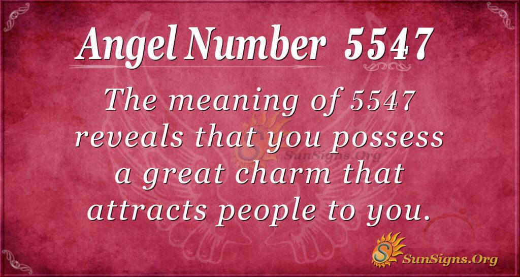 5547 angel number