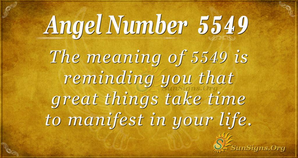 5549 angel number