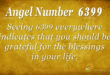 6399 angel number