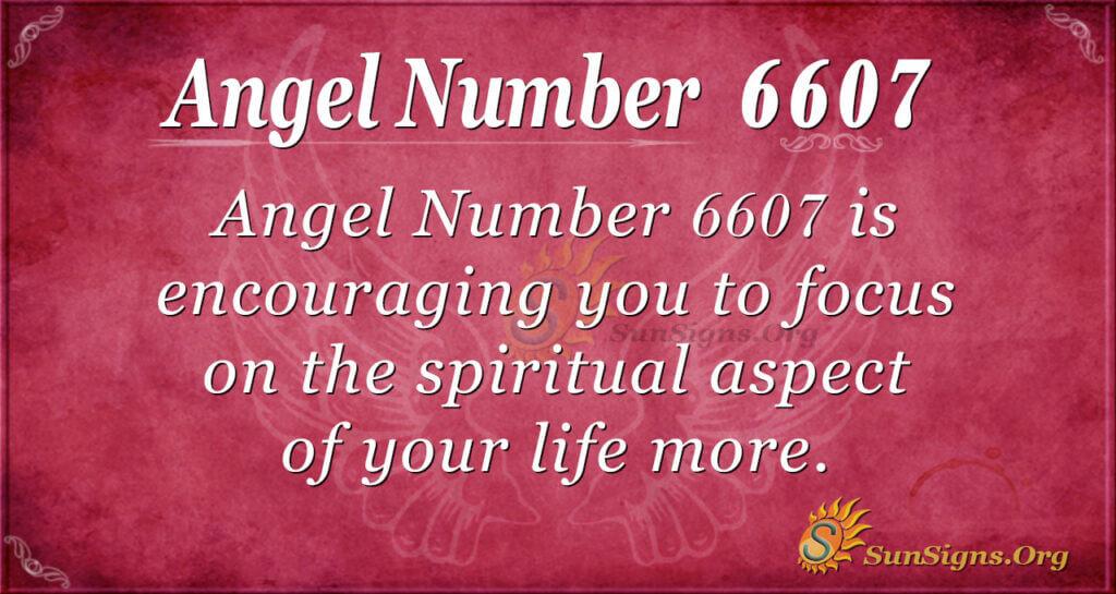 6607 angel number