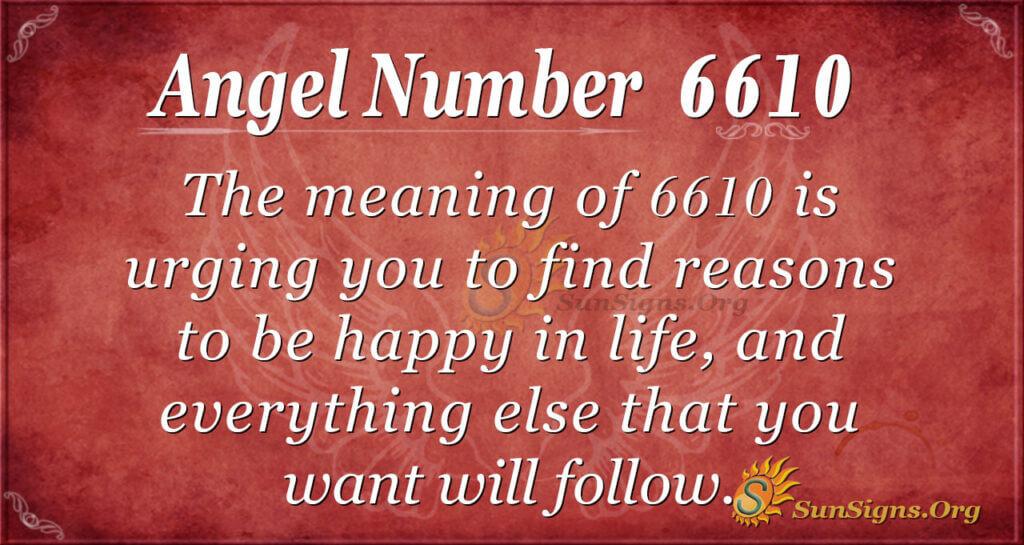 6610 angel number