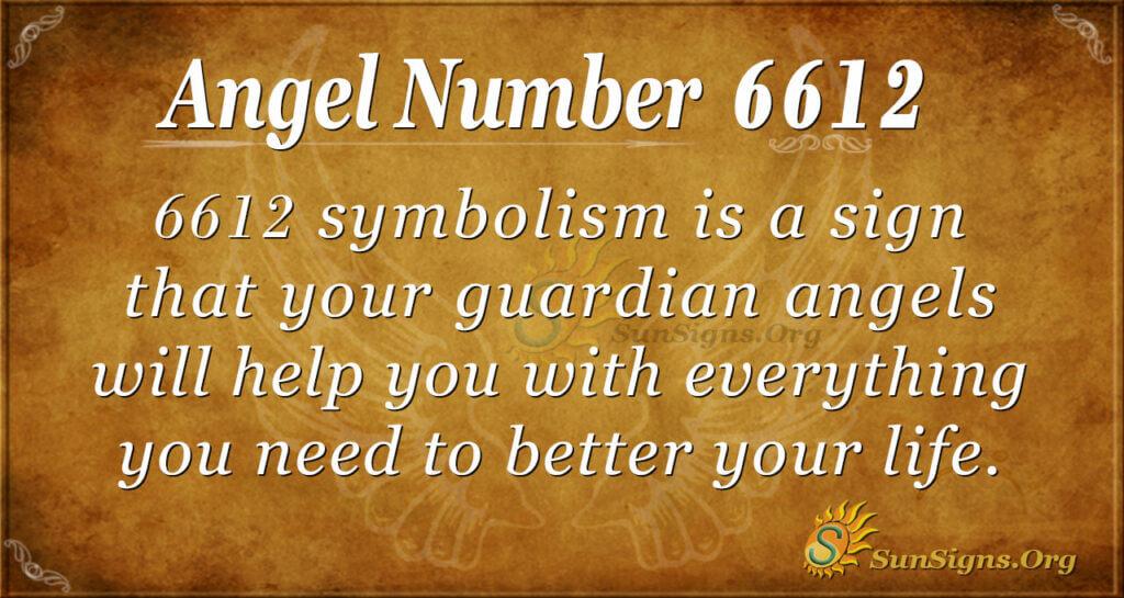 6612 angel number