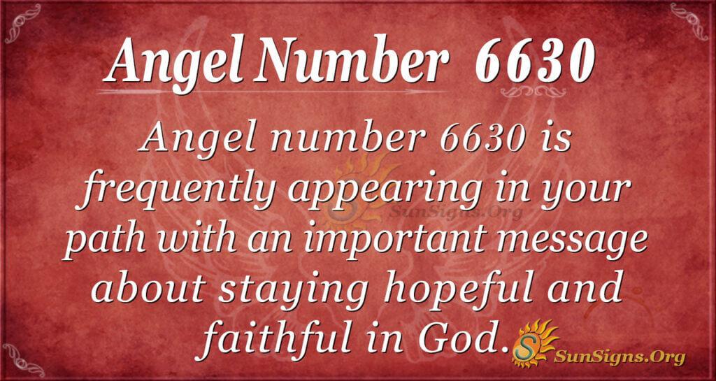 6630 angel number