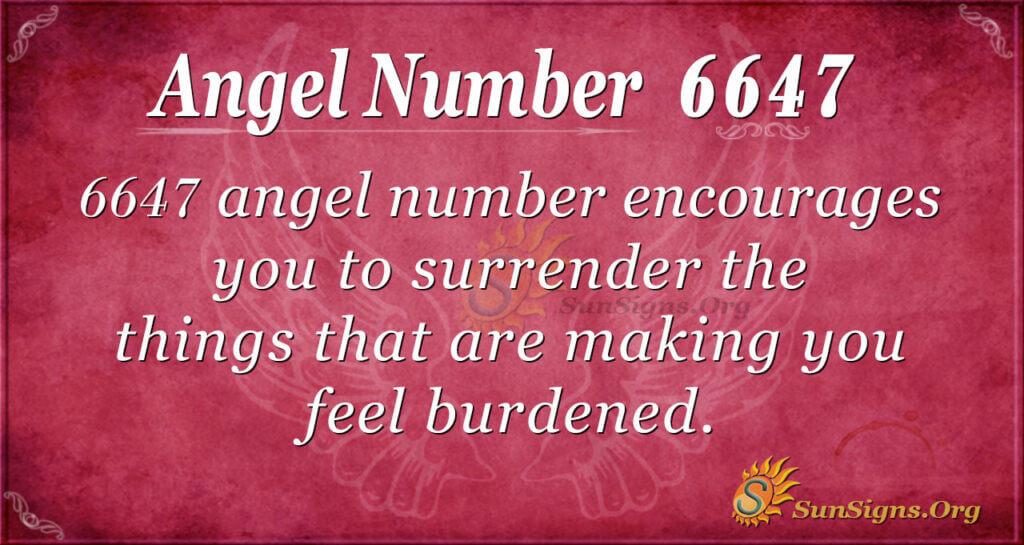 6647 angel number