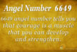 angel number 6649