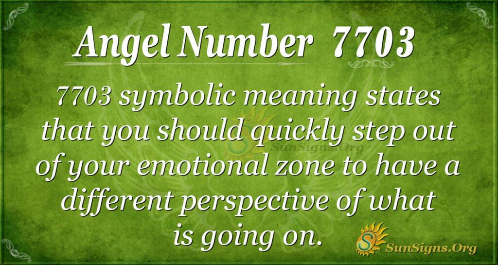 7703 angel number