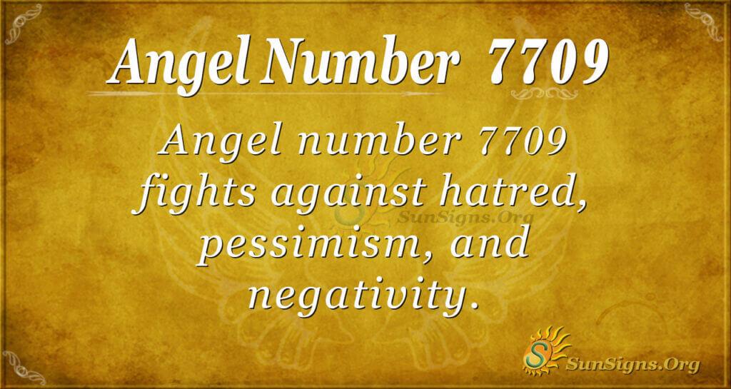 7709 angel number