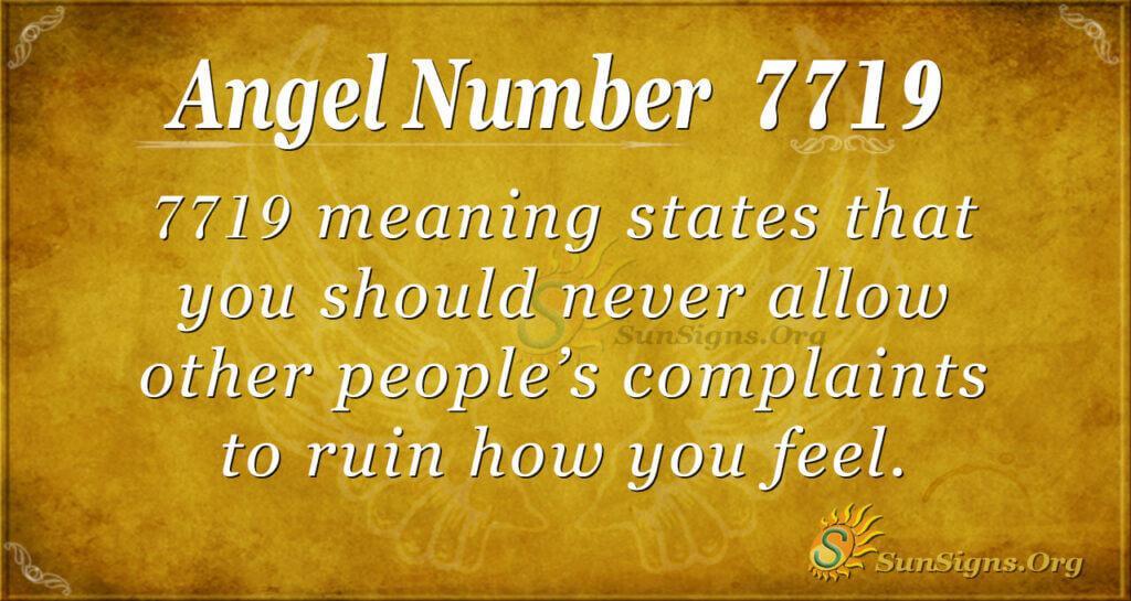 7719 angel number