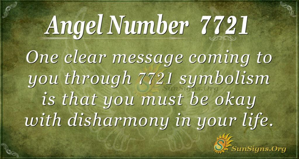 angel number 7721