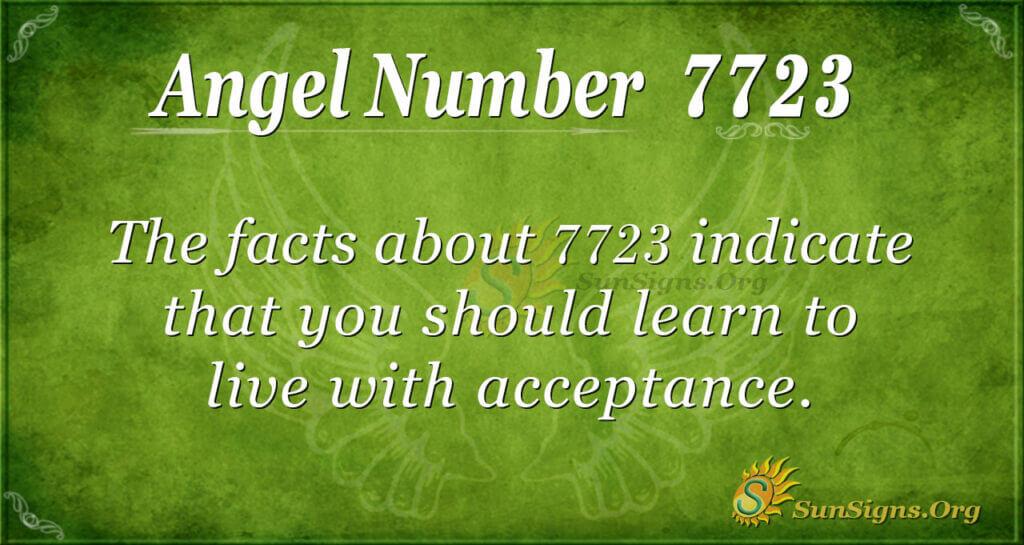 angel number 7723